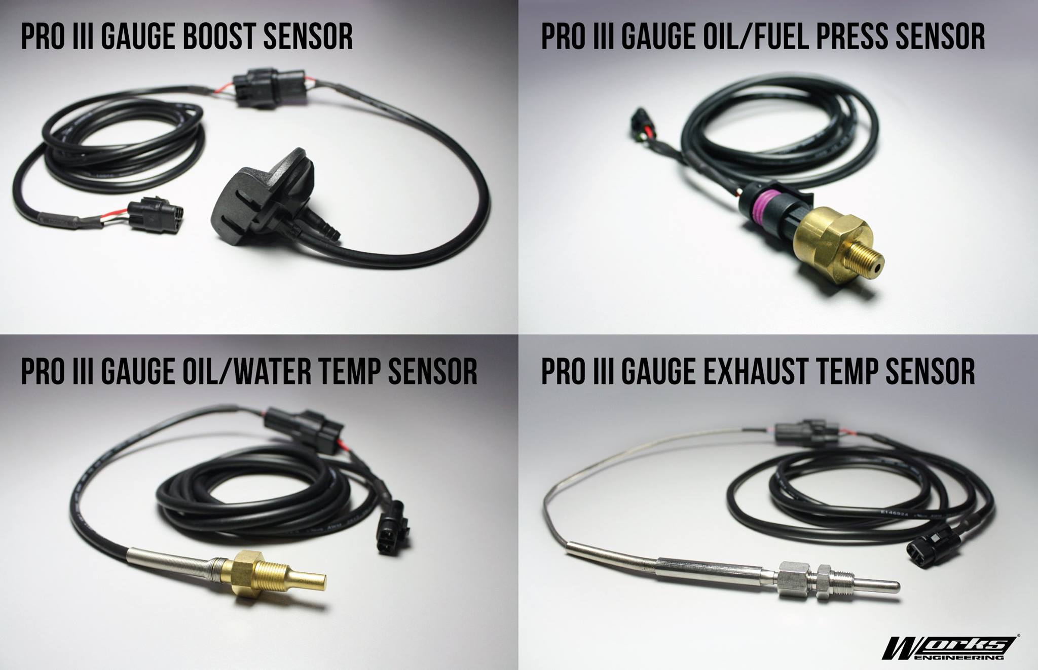 works engineering fuel pressure sensor wire harness for pro iii