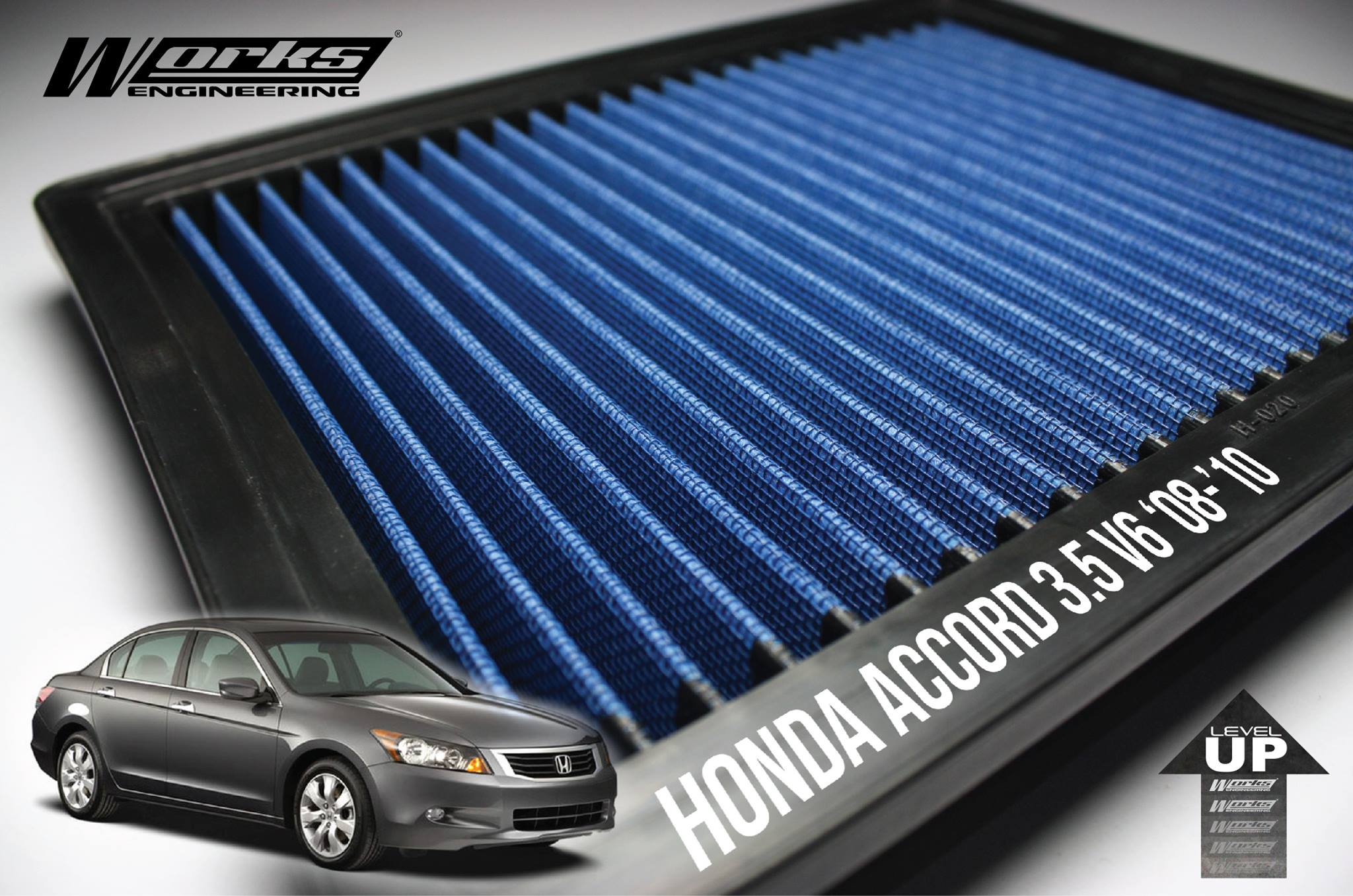 WORKS ENGINEERING Performance Air Filter Honda Accord ...