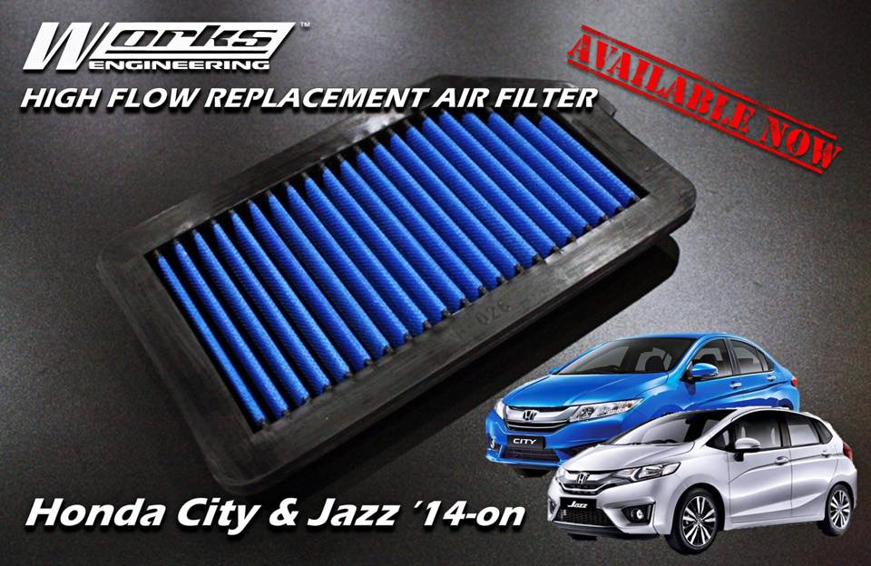 WORKS ENGINEERING Performance Air Filter HONDA JAZZ/FIT ...
